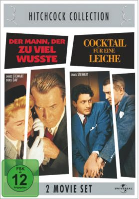 Der Mann, der zuviel wusste + Cocktail für eine Leiche, Doris Day,Bernard Miles James Stewart