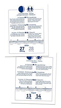 Der Mond 2018 Textabreißkalender - Produktdetailbild 1
