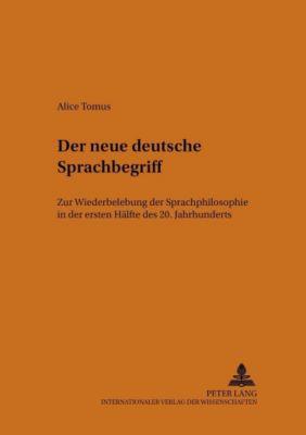 Der neue deutsche Sprachbegriff, Alice Tomus