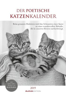 Der poetische Katzenkalender 2019, ALPHA EDITION