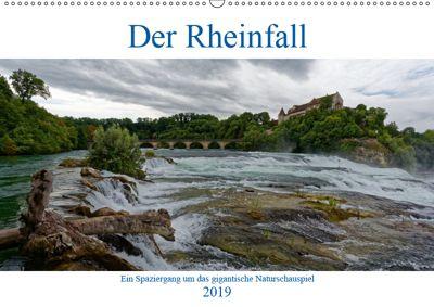 Der Rheinfall - Ein Spaziergang um das gigantische Naturschauspiel (Wandkalender 2019 DIN A2 quer), Hanns-Peter Eisold