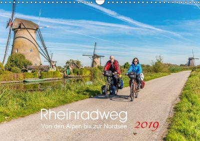 Der Rheinradweg - Von den Alpen bis zur NordseeCH-Version (Wandkalender 2019 DIN A3 quer), Ernst Christen