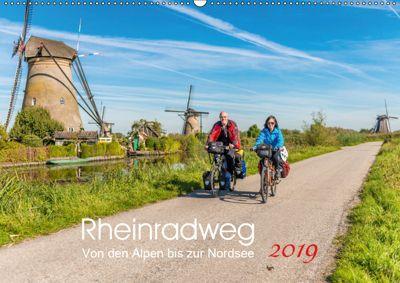 Der Rheinradweg - Von den Alpen bis zur NordseeCH-Version (Wandkalender 2019 DIN A2 quer), Ernst Christen