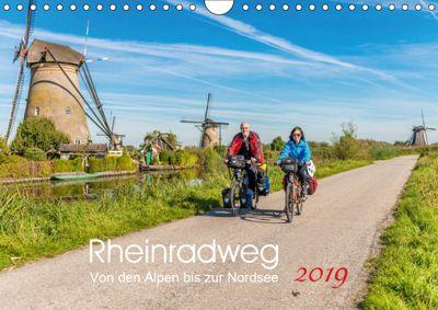 Der Rheinradweg - Von den Alpen bis zur NordseeCH-Version (Wandkalender 2019 DIN A4 quer), Ernst Christen