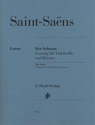 Der Schwan, Fassung für Violoncello und Klavier, Klavierpartitur u. Violoncellostimme, Camille Saint-Saens