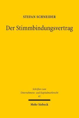 Der Stimmbindungsvertrag, Stefan Schneider