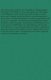 Der Streit mit Johann August Eberhard - Produktdetailbild 1