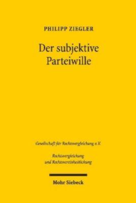 Der subjektive Parteiwille, Philipp Ziegler