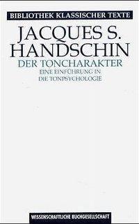 Der Toncharakter, Jacques S. Handschin