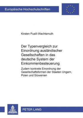 Der Typenvergleich zur Einordnung ausländischer Gesellschaften in das deutsche System der Einkommensbesteuerung, Kirsten Pusill-Wachtsmuth