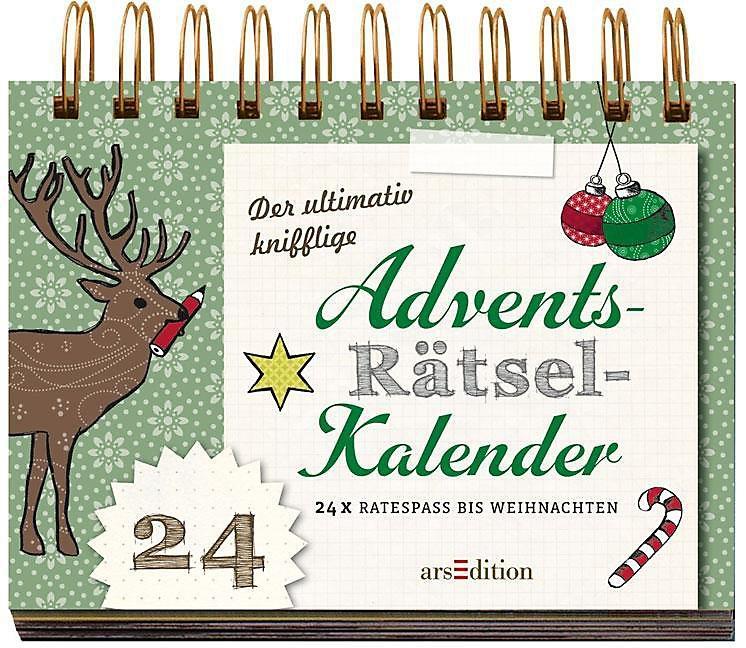 Rätsel Weihnachten Erwachsene.Der Ultimativ Knifflige Rätsel Advents Kalender Kalender Bestellen