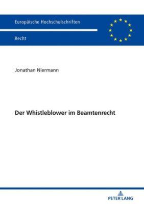 Der Whistleblower im Beamtenrecht - Jonathan Niermann pdf epub