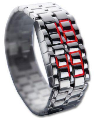 Design-LED-Uhr Iron Samurai, breit