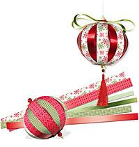 Designstreifen Paper Balls, 60 Papierstreifen (Ausführung: Country) - Produktdetailbild 1