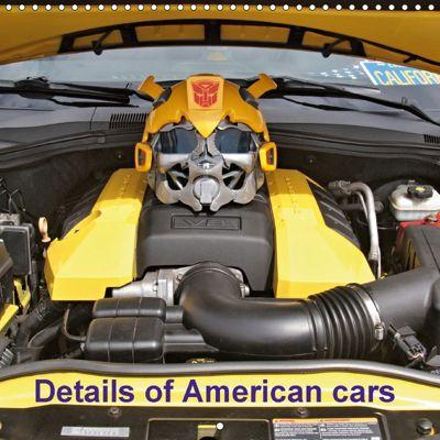 Details of American Cars (Wall Calendar 2018 300 × 300 mm Square), Atlantismedia