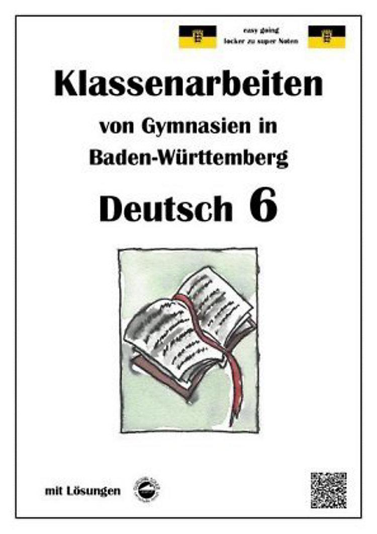 Deutsch 6 Klassenarbeiten Von Gymnasien In Baden