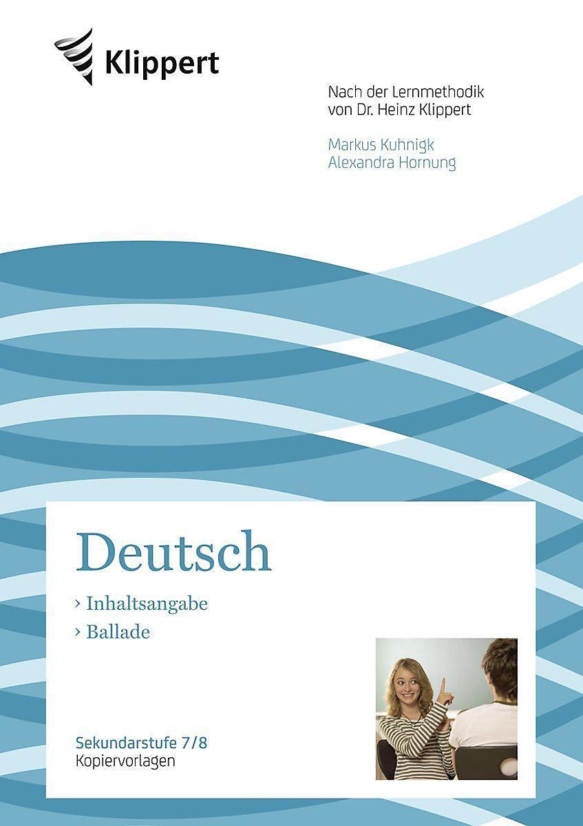 Deutsch 7 8 Inhaltsangabe Ballade Buch Portofrei Weltbildde