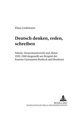 Deutsch denken, reden, schreiben, Klaus Lindemann