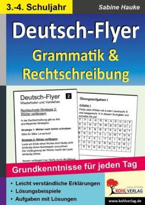 Deutsch-Flyer Rechtschreibung & Grammatik, Sabine Hauke