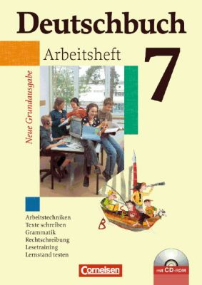 Deutschbuch, Neue Grundausgabe: 7. Schuljahr, Arbeitsheft m. CD-ROM