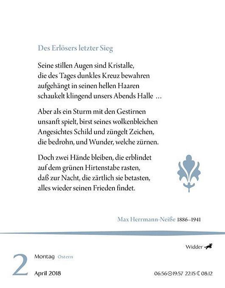 Deutsche Gedichte 2018 Kalender Bei Weltbildde Bestellen
