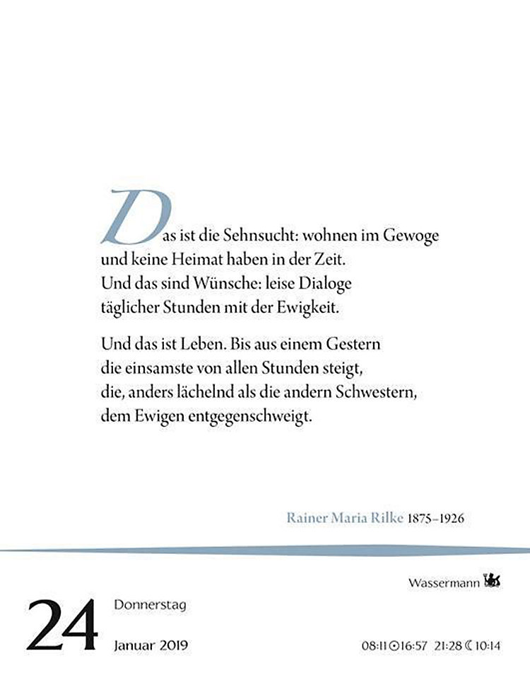 Deutsche Gedichte 2019 Kalender Bei Weltbildde Bestellen