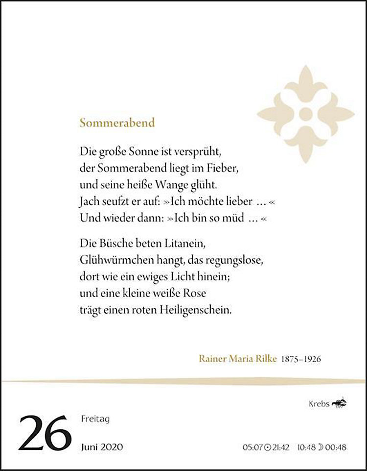 Deutsche Gedichte 2020 Kalender Bei Weltbildat Bestellen
