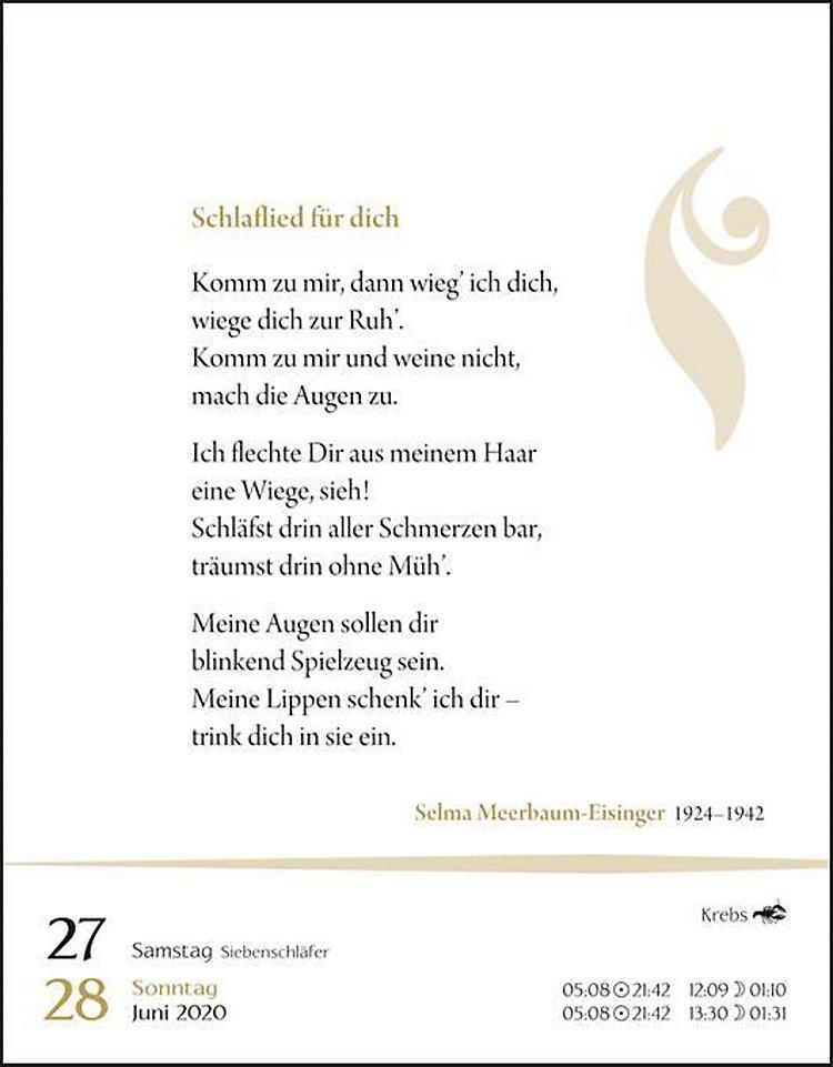 Deutsche Gedichte 2020 Kalender Bei Weltbildde Bestellen