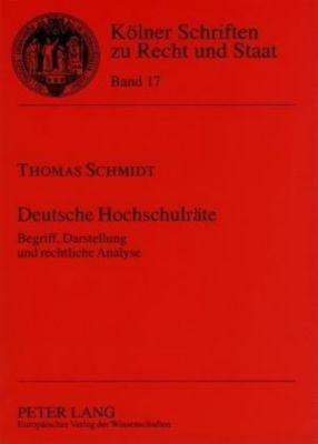 Deutsche Hochschulräte, Thomas Schmidt