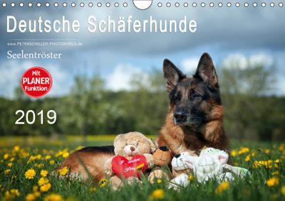 Deutsche Schäferhunde Seelentröster (Wandkalender 2019 DIN A4 quer), Petra Schiller