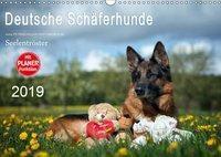 Deutsche Schäferhunde Seelentröster (Wandkalender 2019 DIN A3 quer), Petra Schiller