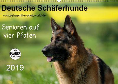 Deutsche Schäferhunde - Senioren auf vier Pfoten (Wandkalender 2019 DIN A2 quer), Petra Schiller