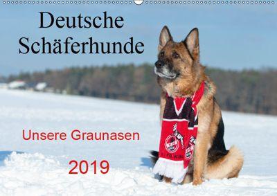Deutsche Schäferhunde Unsere Graunasen (Wandkalender 2019 DIN A2 quer), Petra Schiller