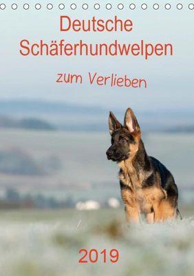 Deutsche Schäferhundwelpen zum Verlieben (Tischkalender 2019 DIN A5 hoch), Petra Schiller