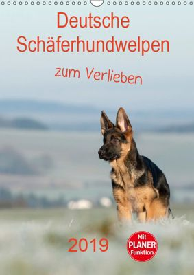 Deutsche Schäferhundwelpen zum Verlieben (Wandkalender 2019 DIN A3 hoch), Petra Schiller