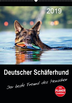 Deutscher Schäferhund - Der beste Freund des Menschen (Wandkalender 2019 DIN A2 hoch), Petra Schiller