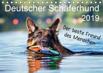 Deutscher Schäferhund - Der beste Freund des Menschen (Tischkalender 2019 DIN A5 quer), Petra Schiller