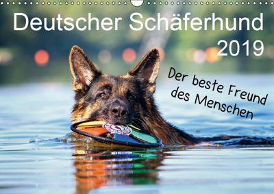 Deutscher Schäferhund - Der beste Freund des Menschen (Wandkalender 2019 DIN A3 quer), Petra Schiller