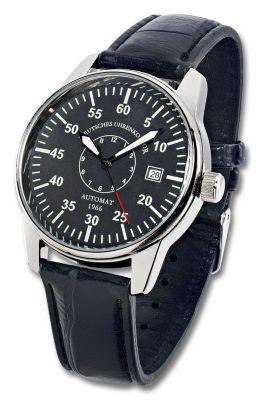 Deutsches Uhrenkontor Automatik-Armbanduhr Mod. 1966 (Farbe: schwarz)