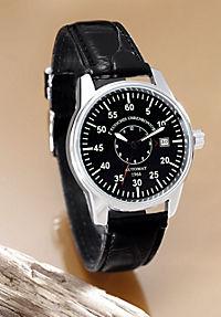 Deutsches Uhrenkontor Automatik-Armbanduhr Mod. 1966 (Farbe: schwarz) - Produktdetailbild 1