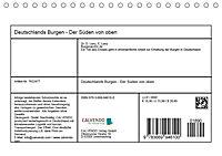 Deutschlands Burgen - Der Süden von oben (Tischkalender 2019 DIN A5 quer) - Produktdetailbild 13