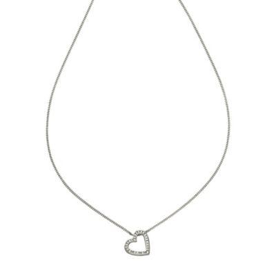 Diamonds by Ellen K. Anhänger mit Kette 585/- Weißgold Brillant 0,22ct.