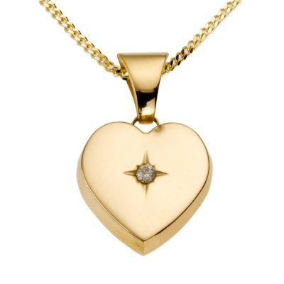 Diamonds by Ellen K. Anhänger mit Kette 585/- Gelbgold Brillant 0,01ct.