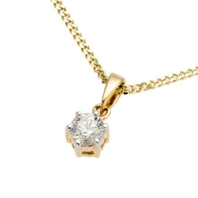 Diamonds by Ellen K. Anhänger mit Kette 585/- Gold Brillant 0,25ct.