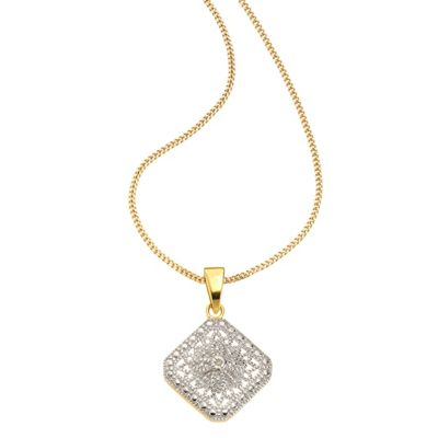 Diamonds by Ellen K. Anhänger mit Kette 925/- Sterling Silber Diamant 0,01ct.