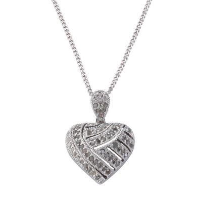 Diamonds by Ellen K. Anhänger mit Kette 925/- Sterling Silber Diamant 0,60ct. (Ausführung: 42cm)