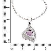 Diamonds by Ellen K. Anhänger mit Kette 925/- Sterling Silber Diamant Amethyst (Ausführung: 42cm) - Produktdetailbild 1