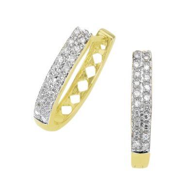 Diamonds by Ellen K. Creolen 585/- Gold bicolor Diamant 0,20ct.