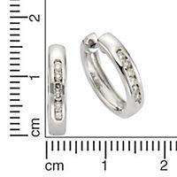 Diamonds by Ellen K. Creolen 585/- Weißgold Brillant 0,25ct. - Produktdetailbild 1