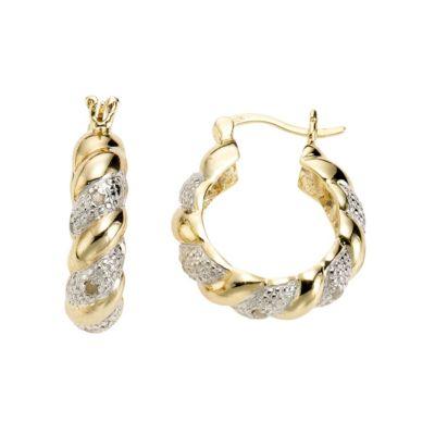 Diamonds by Ellen K. Creolen 925/- Sterling Silber Diamant 0,13ct.